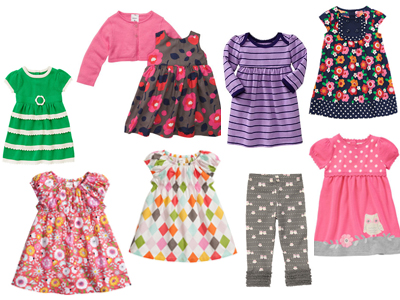Baby Girl Fall Fashion Round Up Fall 2013 Infant Toddler Gymboree Children's Place Tea Collection Gap Old Navy H&M HM Dresses Owls Leggings Sweater Dress