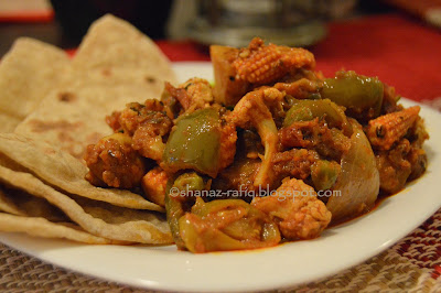 Dhabe Ki Sabzi ~ Dhaba Style Vegetable Curry