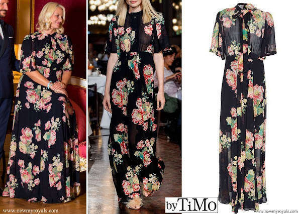 Crown Princess Mette-Marit wore ByTiMo Floral Maxi Dress