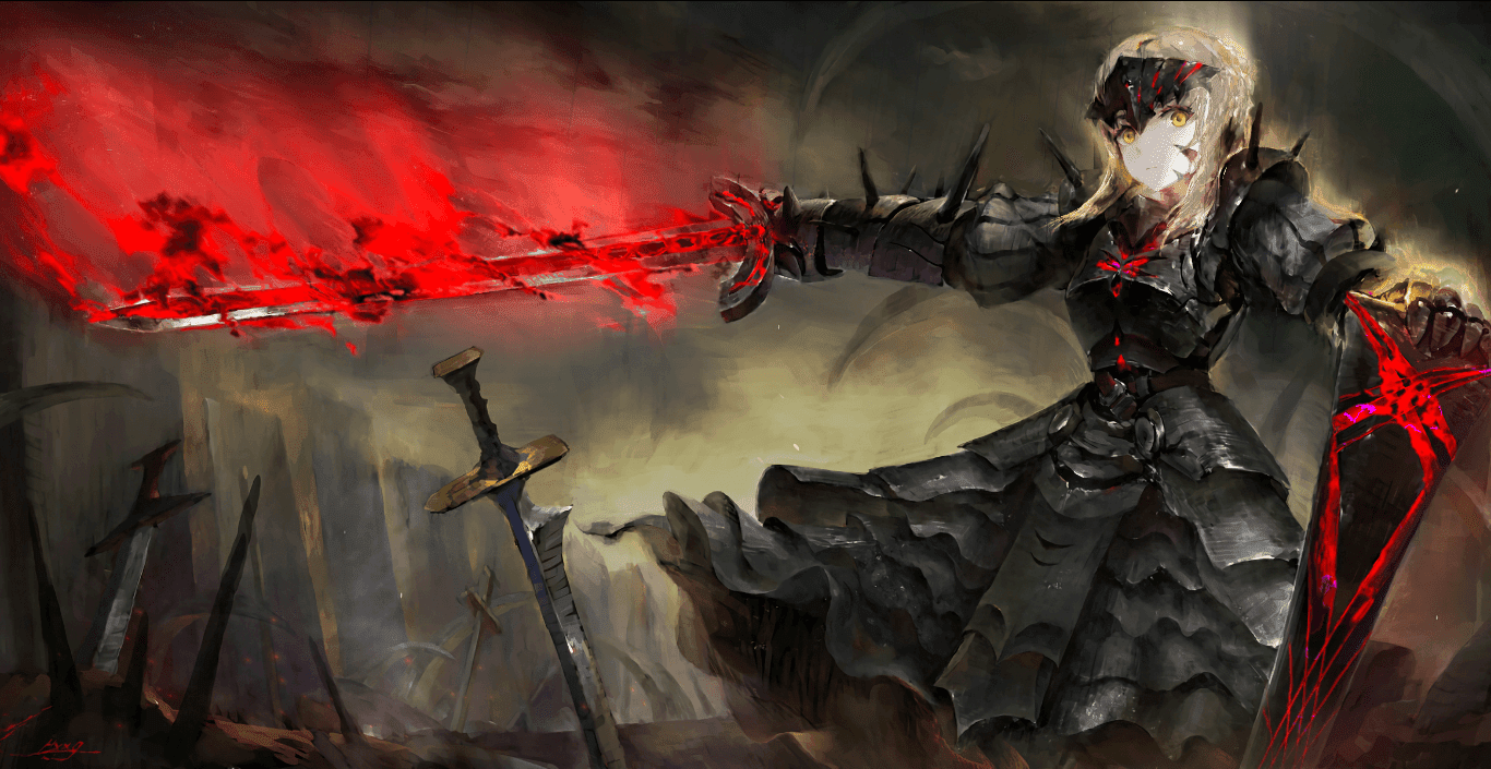 Fate Saber Dark Alternative 黒セイバー HD [Wallpaper Engine Anime]