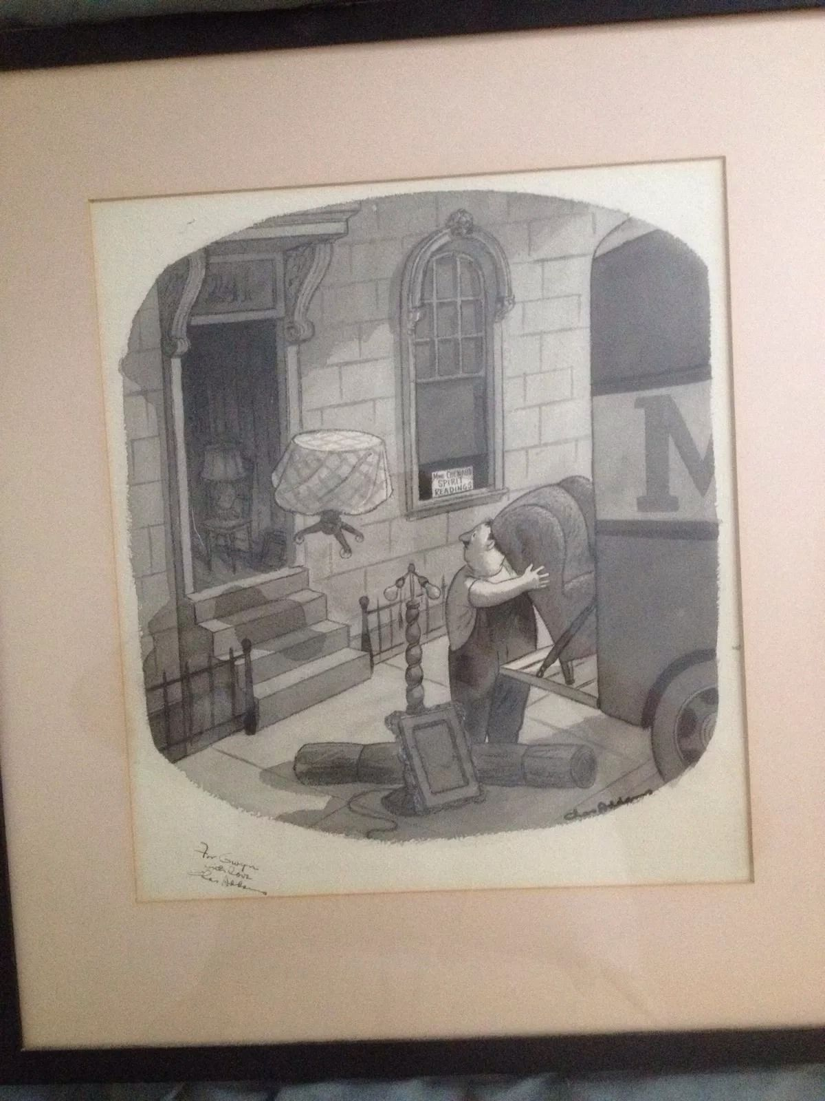 Attempted bloggery charles addams moving day for Original sculptures for sale