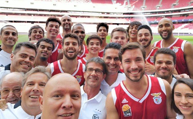 A selfie do Basquetebol no Estádio da Luz