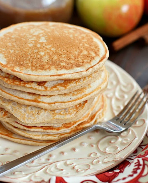 Cinnamon Applesauce Pancakes , weight watchers , 3 smartpoints