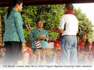Tim Penilai Lomba Desa tahun 2019 Tingkat Regional Kunjungi Desa Latdalam
