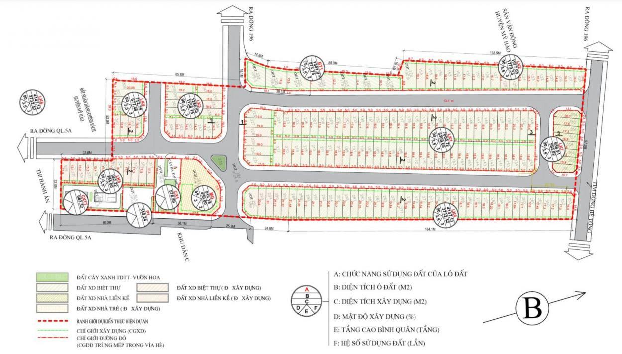 Mặt bằng dự án Vạn Thuận Phát