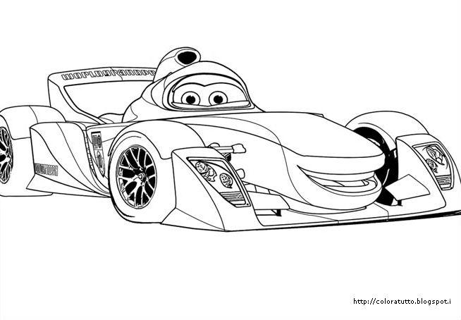Cars 2 disegno da colorare n.13