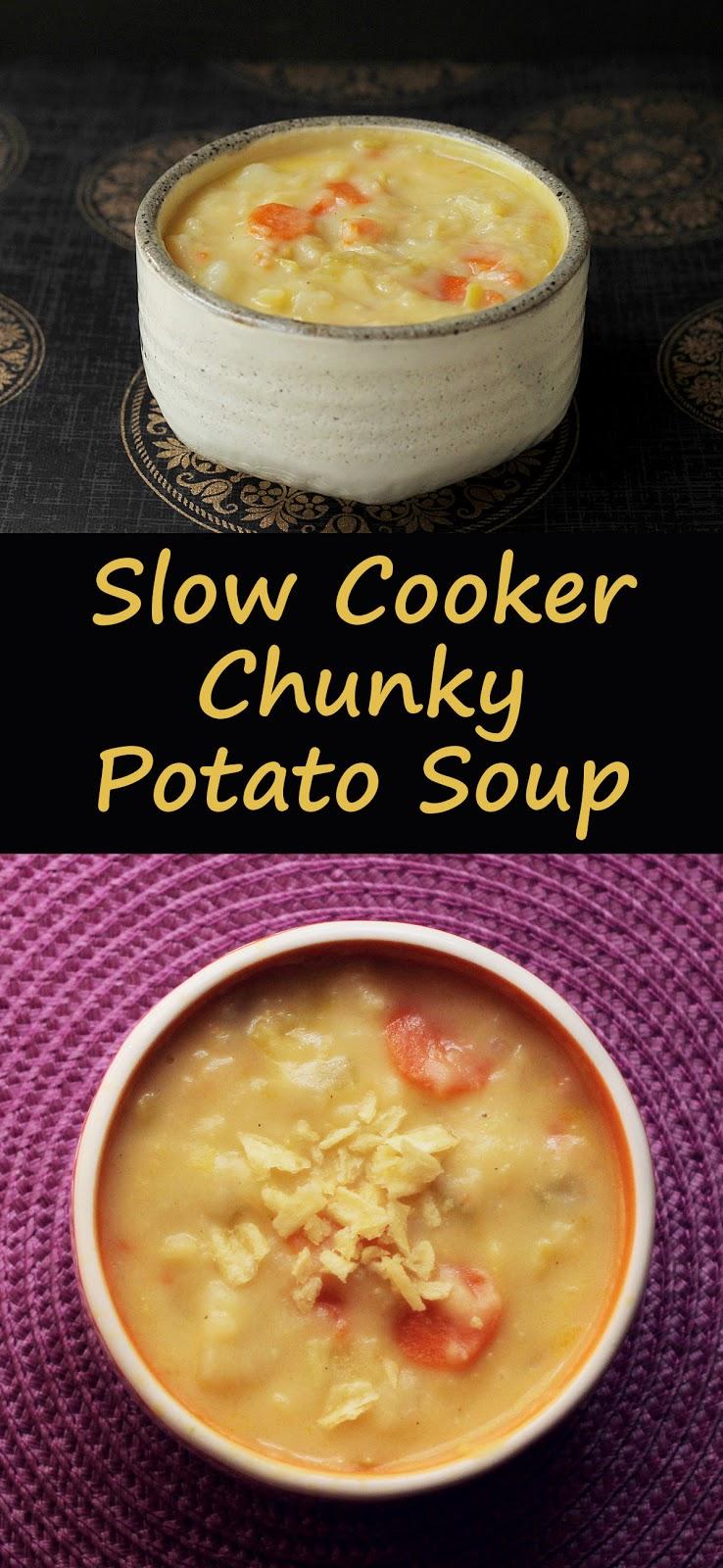 Slow cooker chunky potato leek soup.