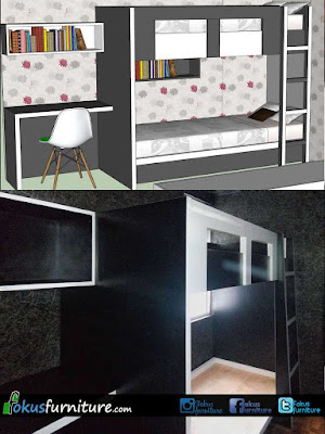 Bunkbed ranjang susun apartemen