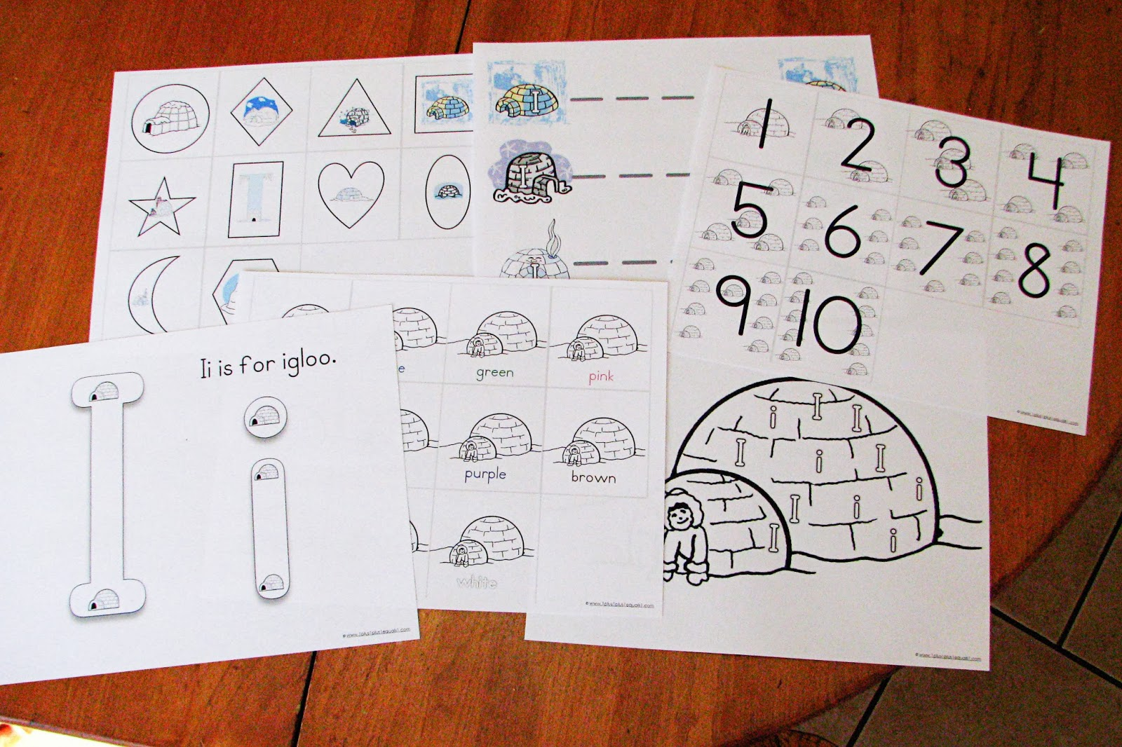 Mommy S Little Helper Letter I Igloo Preschool Theme