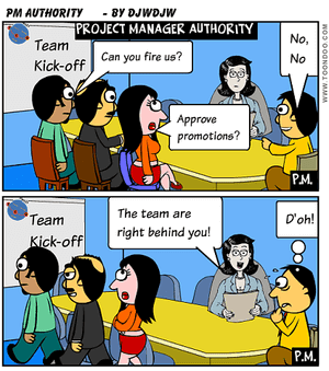 Is Project Manager Authority earned or given?