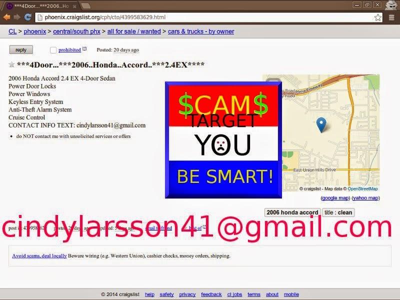 Craigslist Car Scam List for 02/10/2014 | Vehicle Scams
