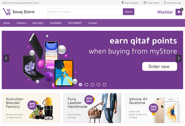 Souq store is ideal for selling gadgets, boutique, laptops, clothing or apparel store.