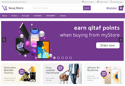 Souq Store Blogger Template Best Ecommerce Theme