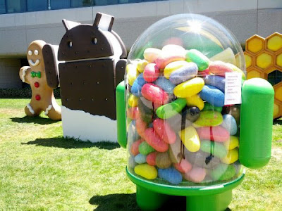 Google Inc. Garden where the statues of various android versions are installed