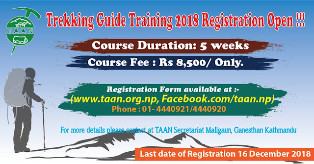 TAAN Trekking Guide Training 2018