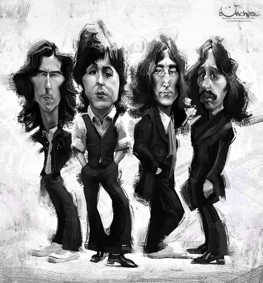 The Beatles por Alexander Novoseltsev