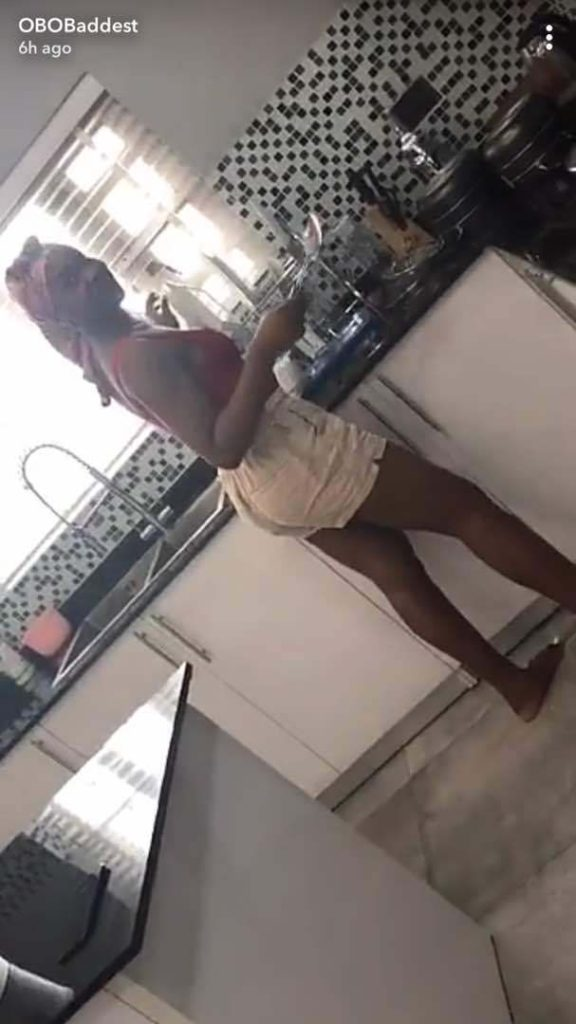 Video of Davido's Girlfriend, Chioma Cooking For Him
