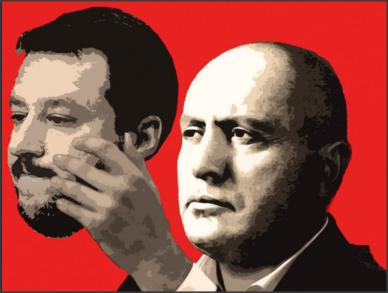 Mussolini fece prima la marcia su Roma, poi ottenne il Governo. Salvini ha ottenuto prima il Governo, e ora sta facendo la marcia su Roma.