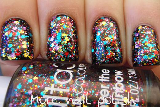 Laser Rainbow Effect Color Nail Polish
