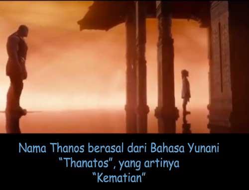 thanos berasal dari bahasa yunani thanatos yang artinya kematian