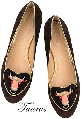 Charlotte Olympia Taurus Suede Flats Cosmic Collection