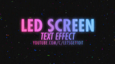 PSD Screen LED Text Effect
