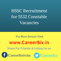 HSSC Recruitment for 5532 Constable Vacancies