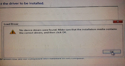 mengatasi masalah ketika install windows 7 no device drivers were found.(blabla)