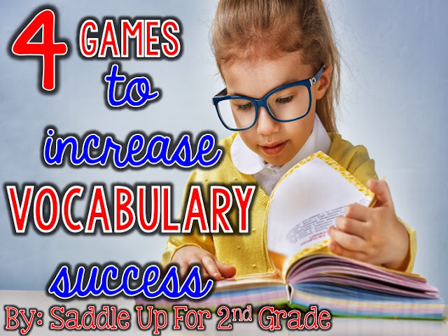 4 Games to Increase Vocabulary Success By Saddle Up For 2nd Grade