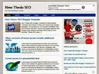 New Thesis Template Blogger Seo Responsive Free Premium