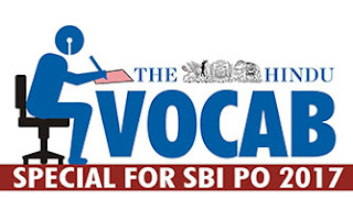 THE HINDU VOCABULARY | 13.04.2017 | IMPORTANT FOR SBI PO