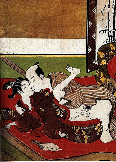 Suzuki Harunobu - coppia di amanti - xilografie - arte