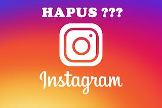 Cara Menghapus Akun Instagram 2017