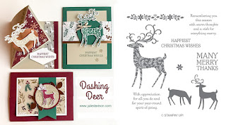 Stampin' Up! Dashing Deer Card Kit for October 2018 Stamp of the Month Club by Julie Davison www.juliedavison.com/clubs