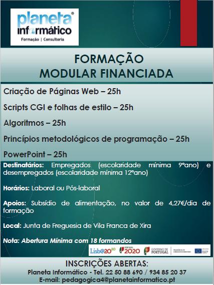 Formação modular financiada em Vila Franca de Xira