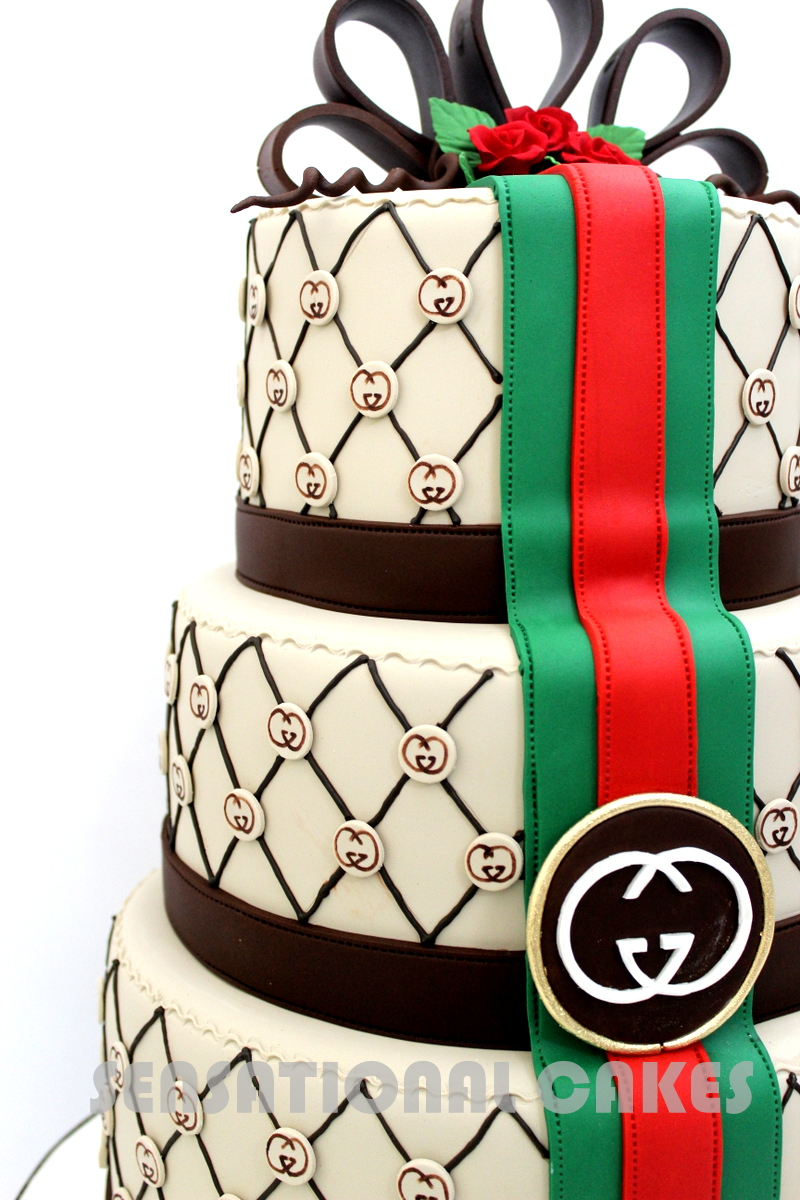 The Sensational Cakes 3d Elegant Gucci Theme Designer