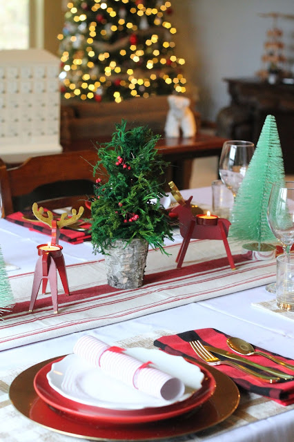 AK Party Studio Target Christmas Tablescape on a Budget