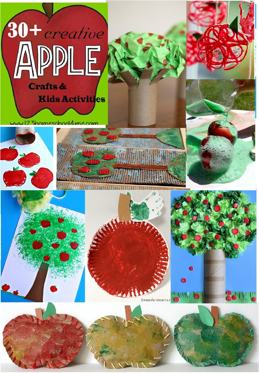 30 Apple Crafts And Kids Activities For September 123 Homeschool 4 Me