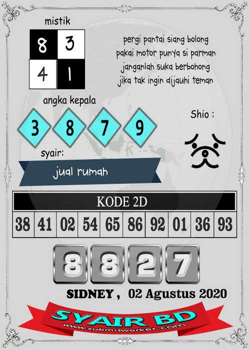 Kode syair Sydney Minggu 2 Agustus 2020 188