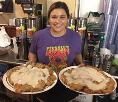 Kendall's Restaurant, Noble OK, Big eats challenge, Chicken fried steak, Best restaurant in Oklahoma, Ginormous food,