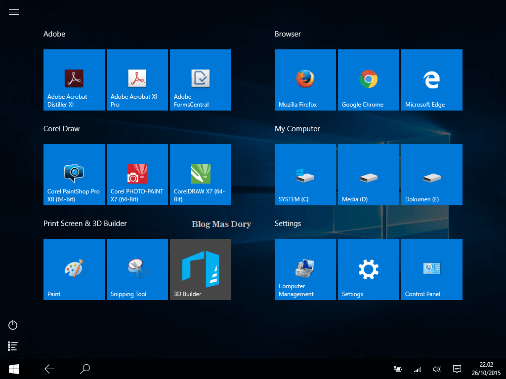 Tampilan Tablet Mode Windows 10 Blog Mas Dory