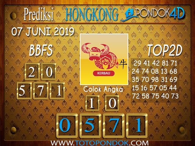 Prediksi Togel HONGKONG PONDOK4D 07 JUNI 2019