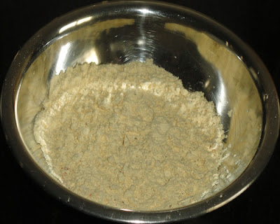 bhajani in a bowl to make thalipeeth