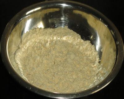 bhajani in a bowl to make thalipeeth