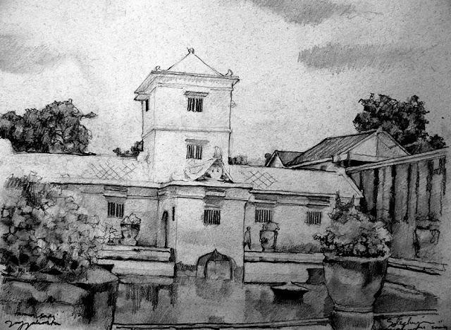 Sketsa Taman Sari Jogjakarta
