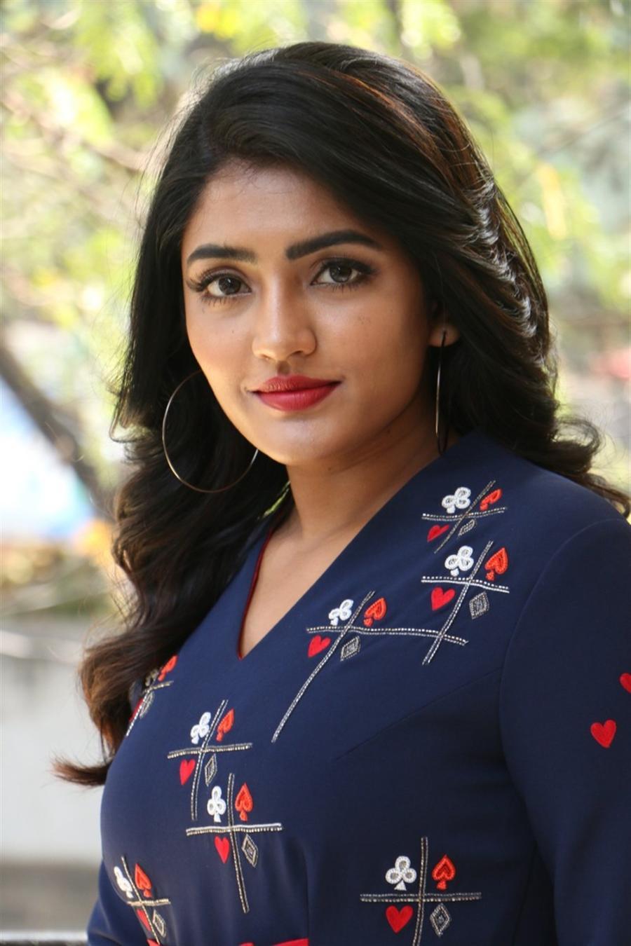Indian Actress Eesha Rebba at Ragala 24 Gantallo Movie Interview