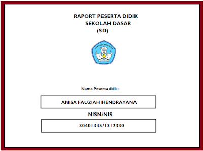 format buku raport sd kurikulum 2013