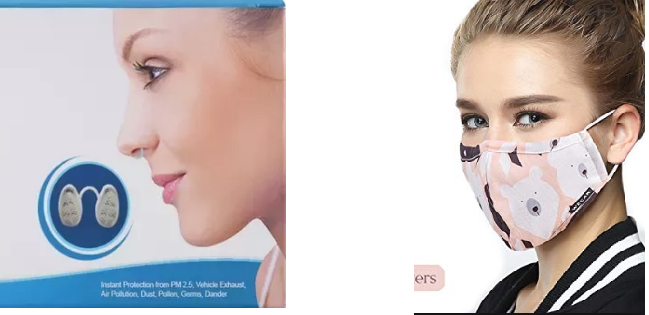 Comparison between Pollution Masks and Nose Filters(Nasal Filter)