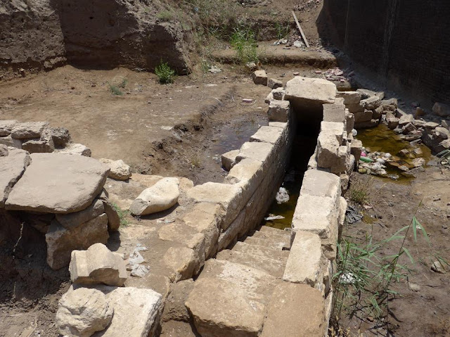 Nilometer discovered in ancient city of Thmuis in Egypt's Delta region