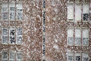 Foto de nieve cayendo